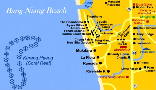 Bang Niang Beach Khao Lak - Khaolak Map